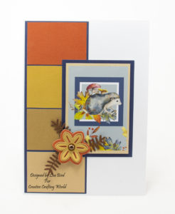 handmade card has been created using a paper collection and die collection called A Whisper Of Autumn.