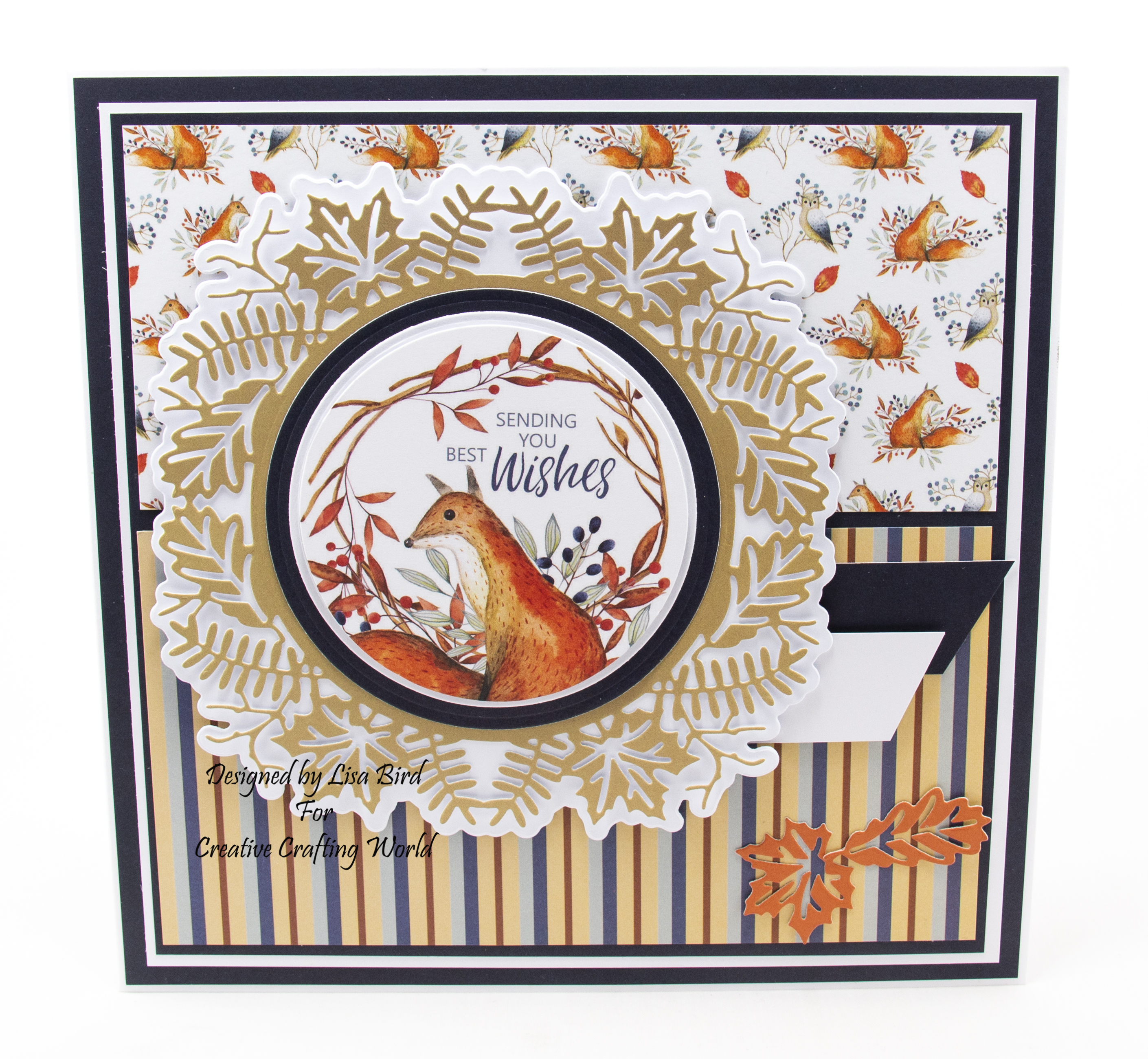 Handmade card created using a paper collection and die collection called A Whisper Of Autumn. This collection is from The Paper Boutique range from Creative Crafting World