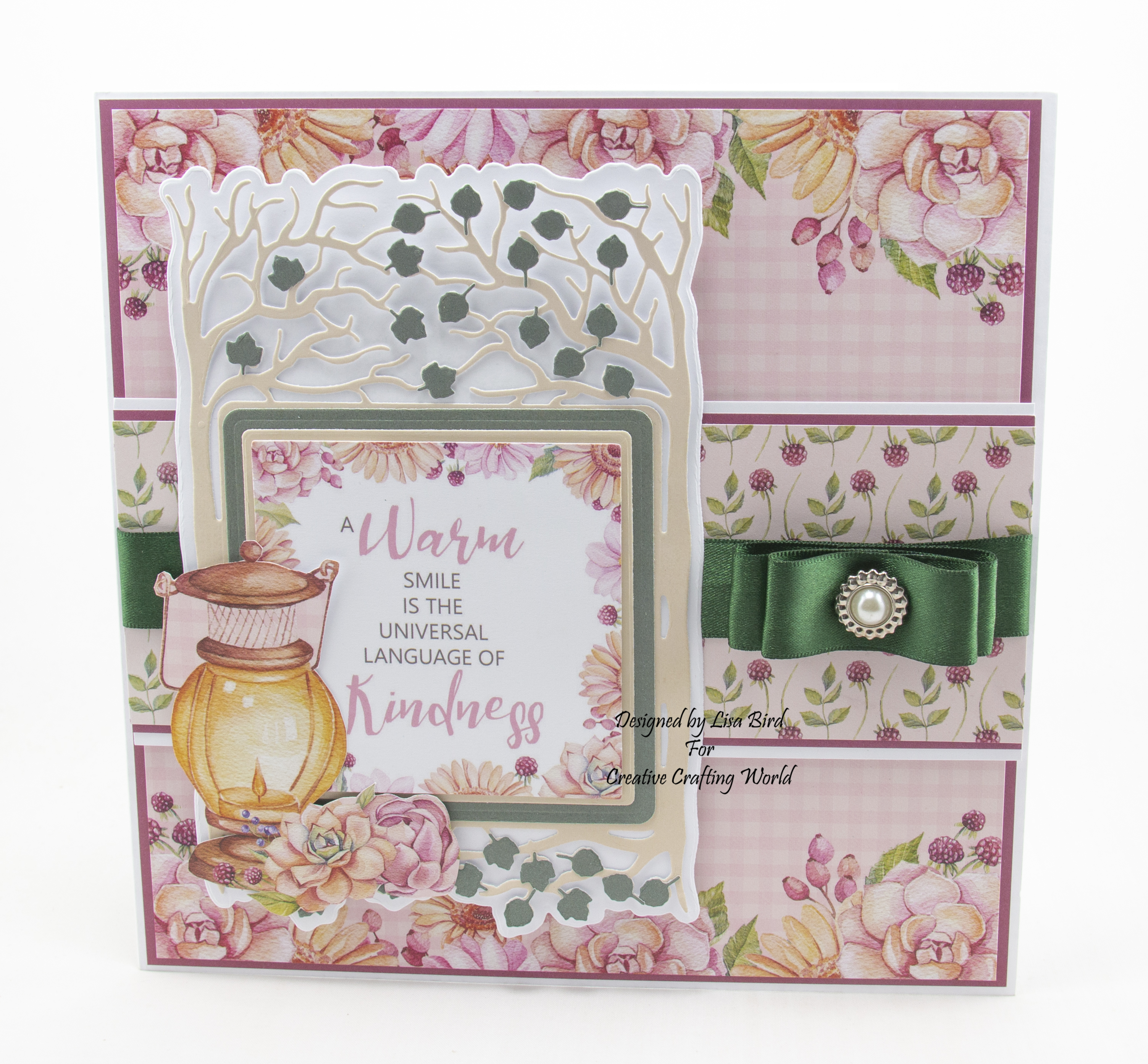 Today's handmade card has been created using a new paper collection called Grandma's Garden from Creative Crafting World.