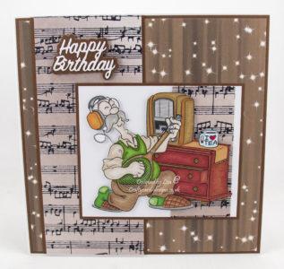 Handmade card using a digi image from Dr. Digi's called Derek Clapton