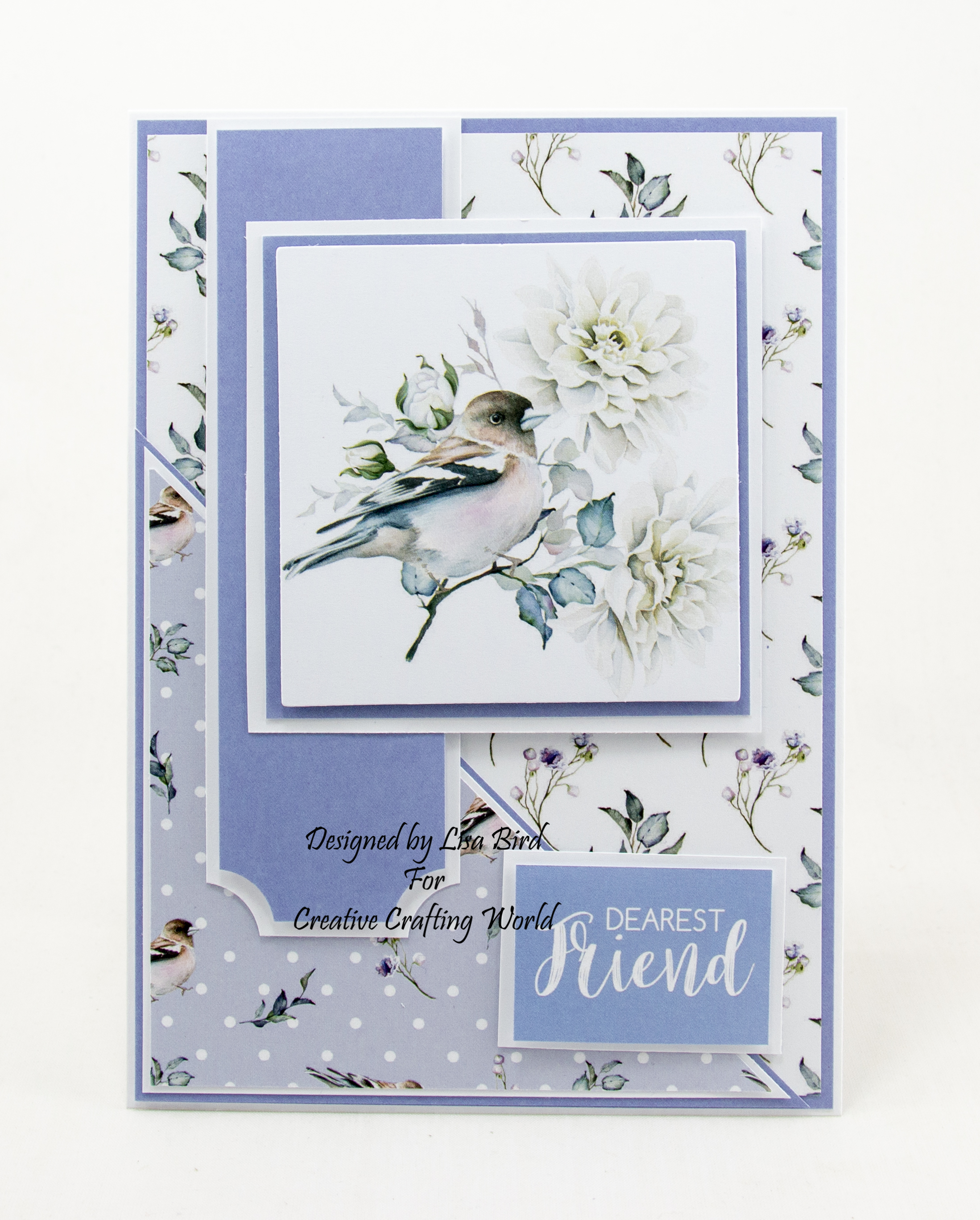 handmade card using Paper Boutique paper collection from Creative Crafting World called Morning Whispers