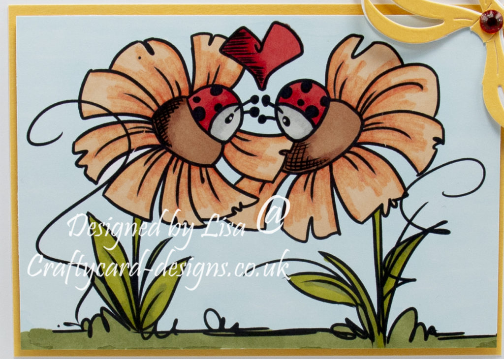 digi image from Bugaboo Stamps called Flower Ladybug Love