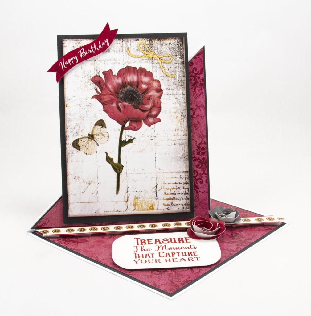Handmade card using Vintage Botanical