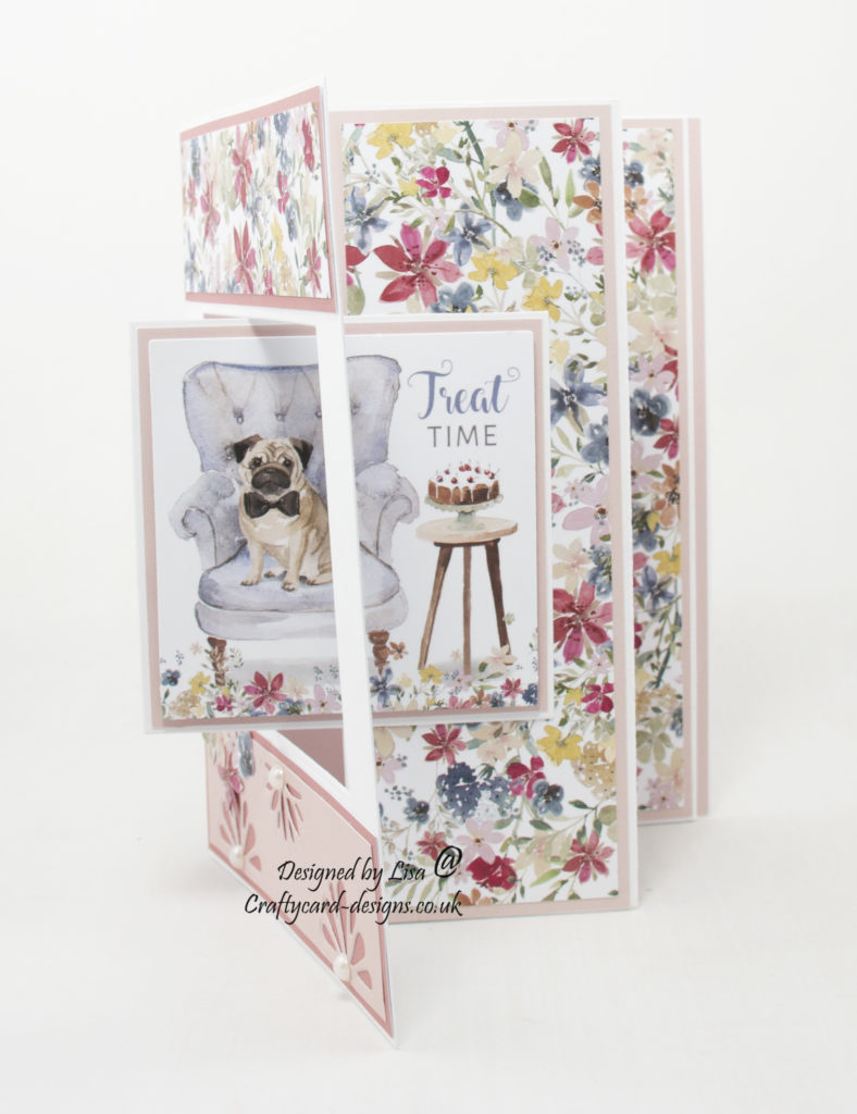 handmade card has been created using It's A Dogs Life paper collection