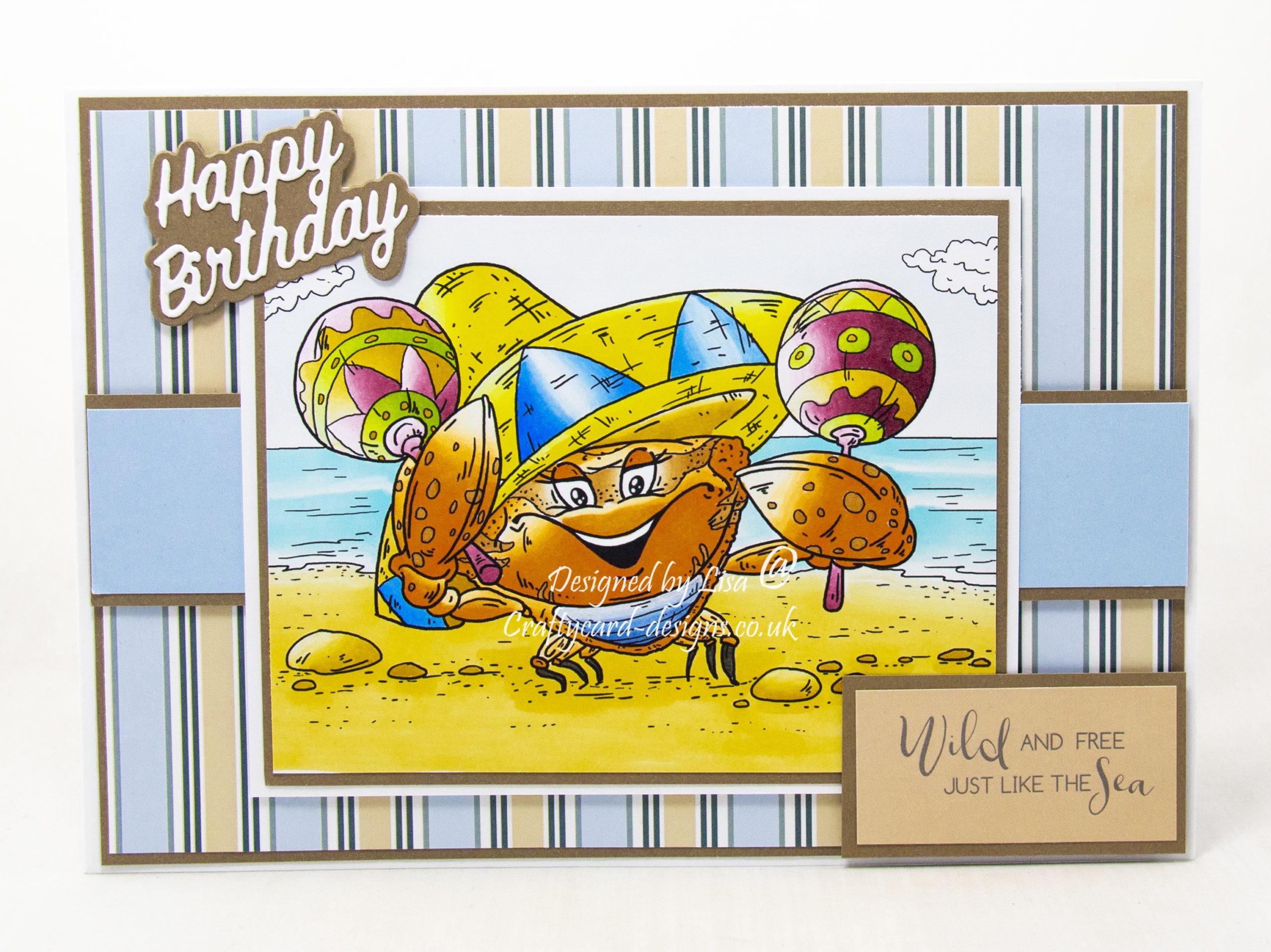 digi image from Fabrika Fantasy called Cheerful Crab.