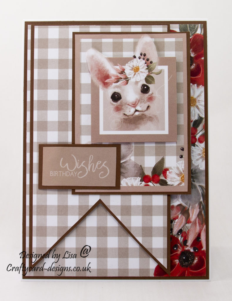 Handmade card created using Happy Days paper collection