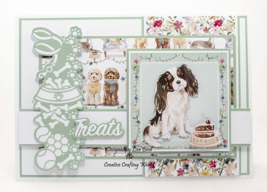 Handmade card using It's A Dogs Life paper collection