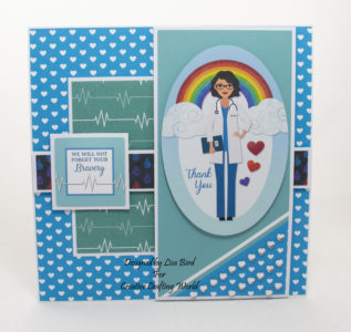 Handmade card using Hope and Sunshine paper collection