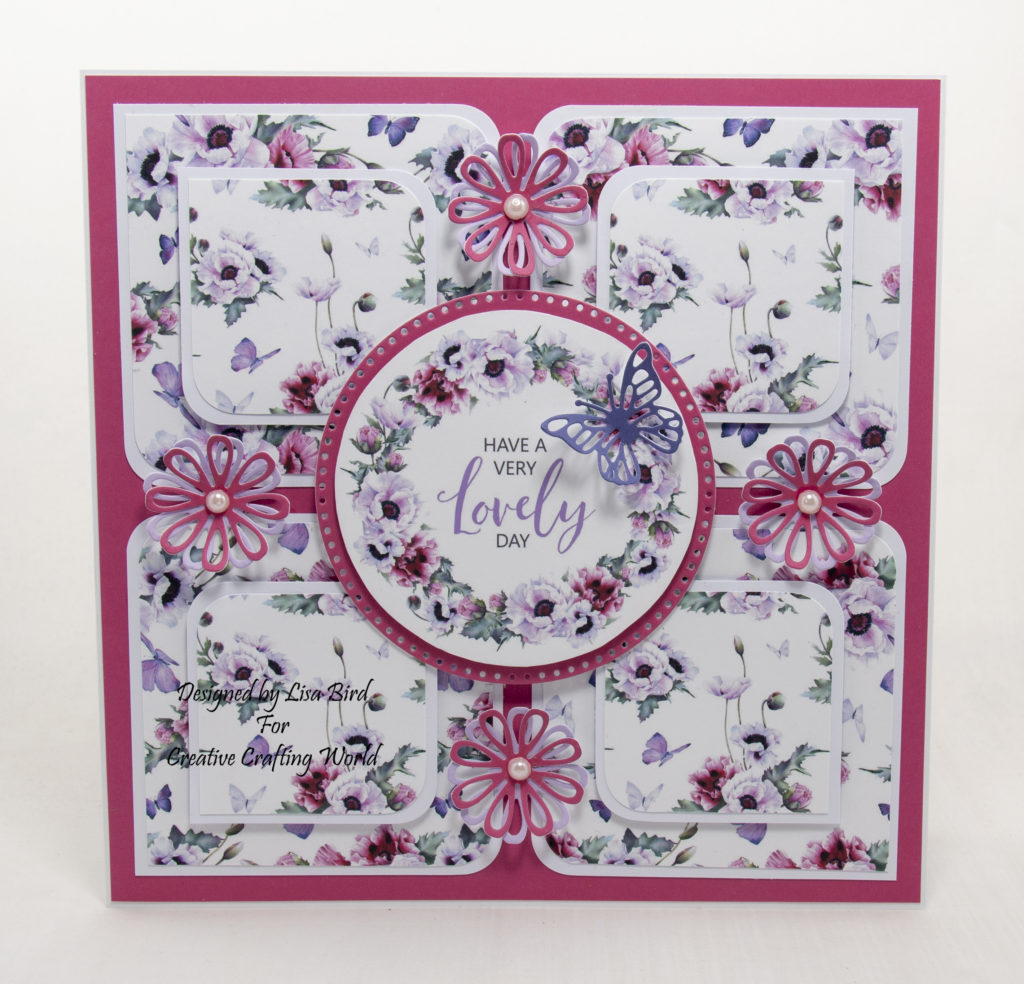 Handmade card using Pretty Poppies from Creative Crafting World