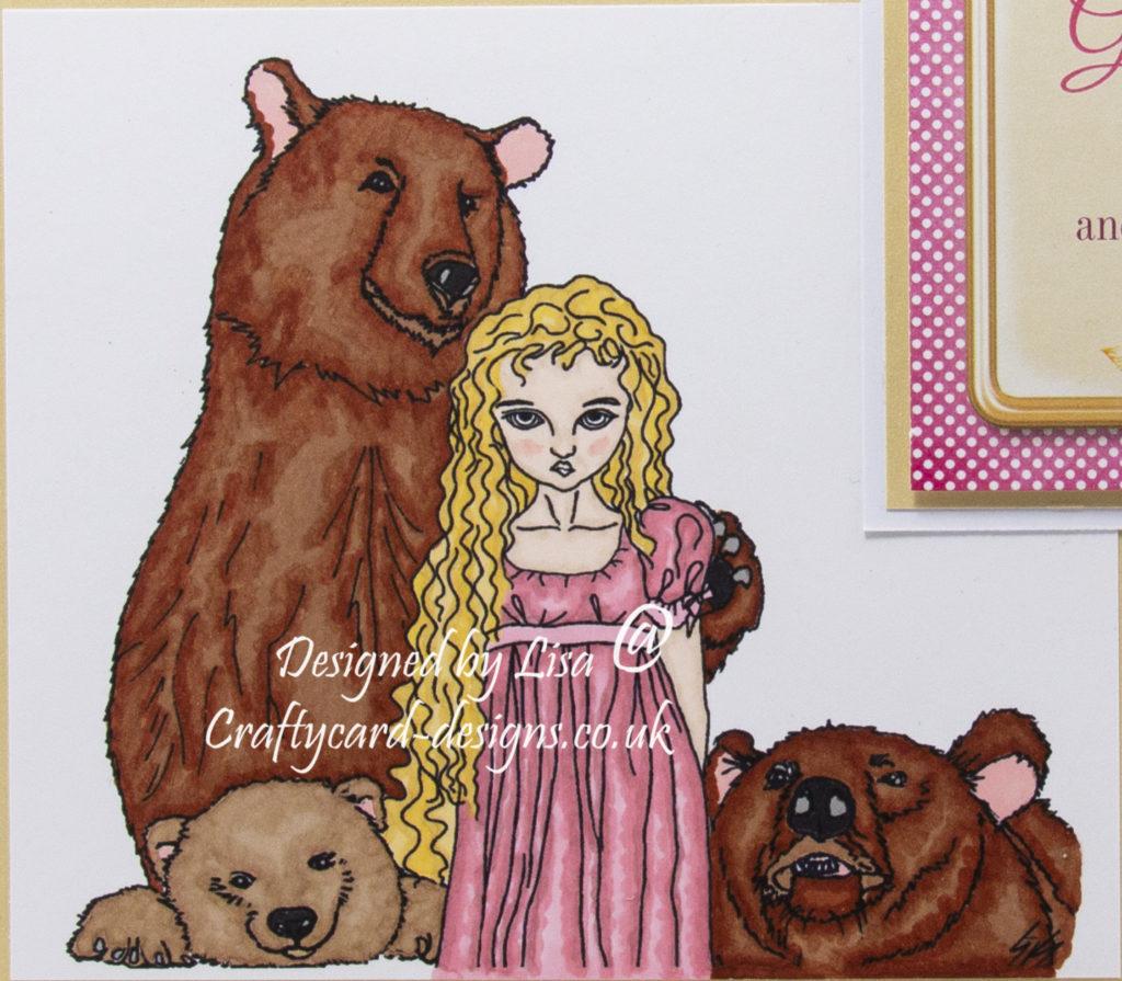 digi image from Ike's Art called Goldilocks + The Three Bears