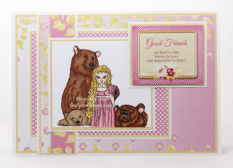 digi image from Ike's Art called Goldilocks + The Three Bears
