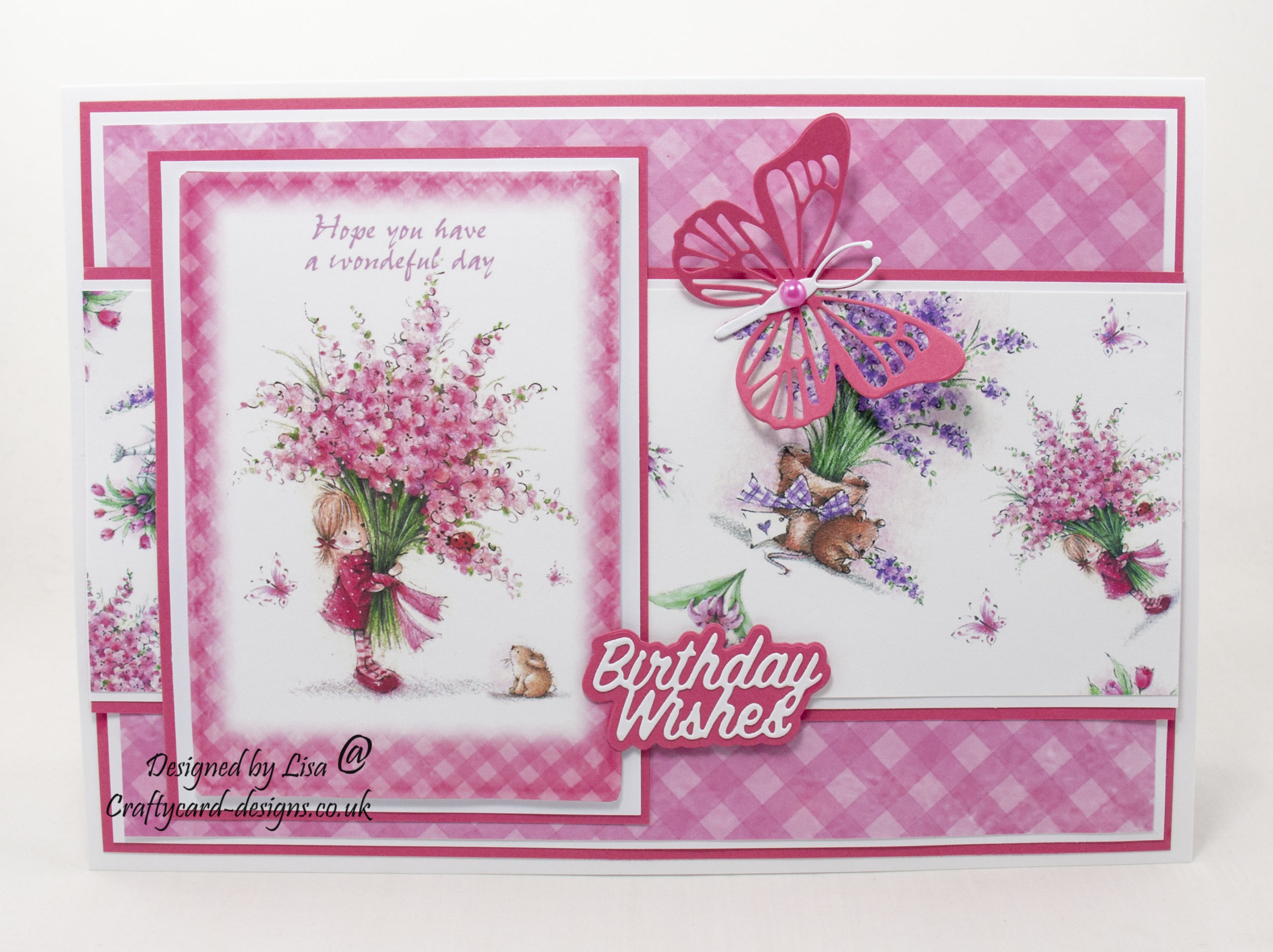 Handmade card using Fairy Garden collection