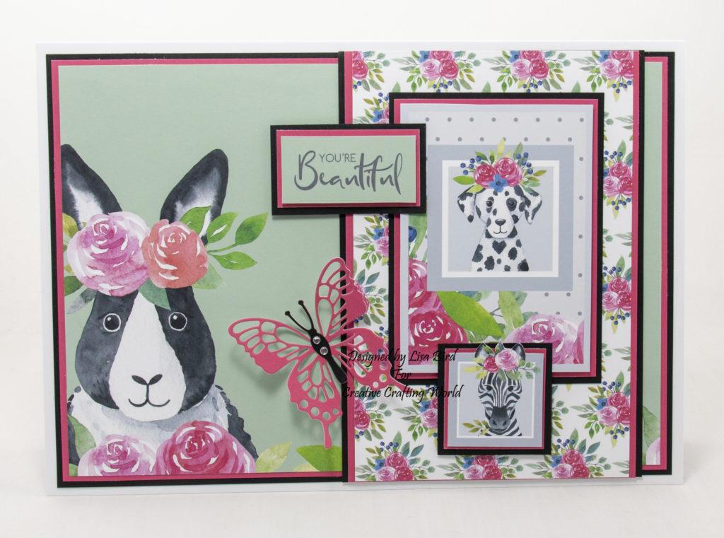 Handmade card using Rainbow Buddies paper collection
