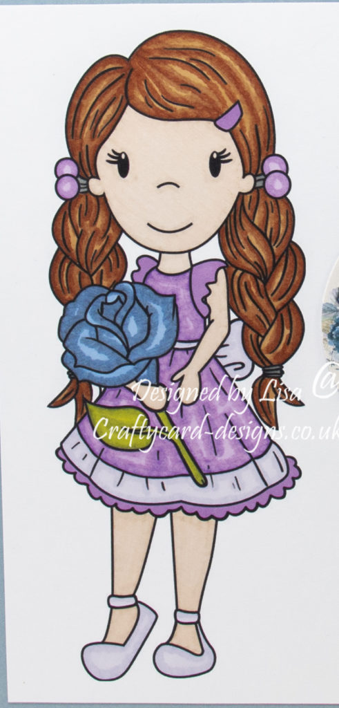 digi image from Paper Nest Dolls called Avery With Rose