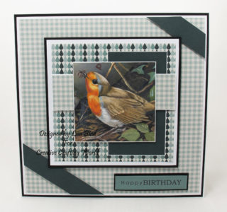 Handmade card created using a dvd-rom called Family Portraits - Wild Birds from Creative Crafting World.