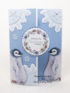 handmade card has been created using a Paper Boutique paper collection from Creative Crafting World called Christmas Cuddles