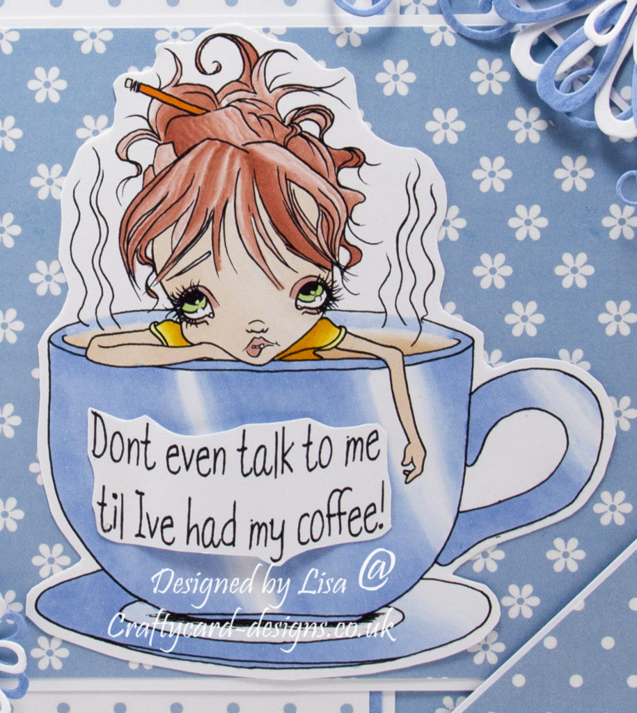 digi image from Oddball Art called Monday Mornings Frazzled Fran Needs Her Coffee.