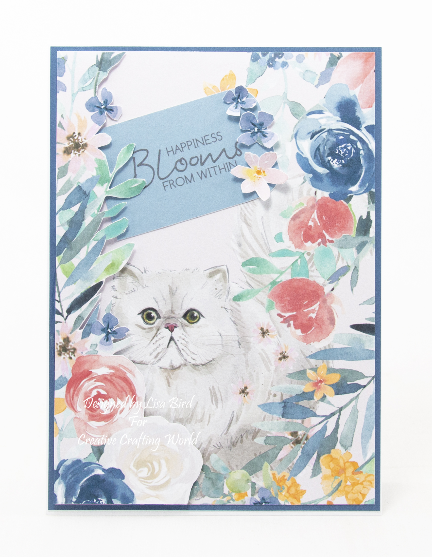 handmade card has been created using a Paper Boutique paper called It's A Cats Life.