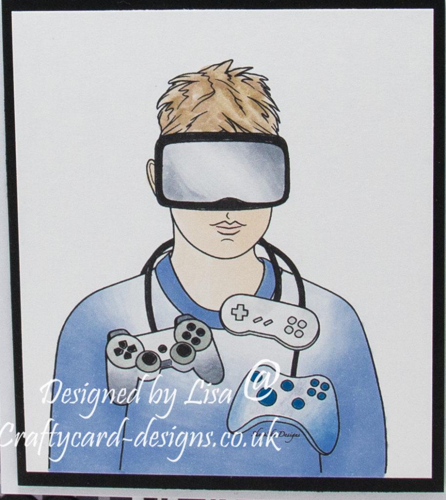digi image from SheepSki Designs called Gaming Dude