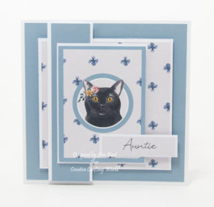 handmade card has been created using a Paper Boutique paper collection from Creative Crafting World called It's A Cats Life.