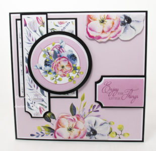 handmade card has been created using a Paper Boutique paper collection from Creative Crafting World called Floral Daze.