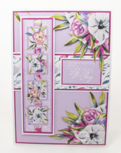 Today's handmade card has been created using a Paper Boutique paper collection from Creative Crafting World called Floral Daze.