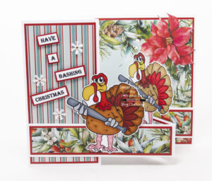 Handmade card digi image from Dr. Digi's House Of Stamps called Tough Turkey