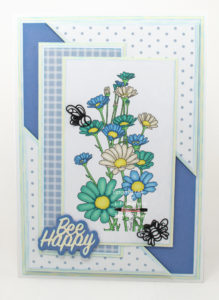 Handmade card using digi image from SheepSki Designs called Daisy Panel.
