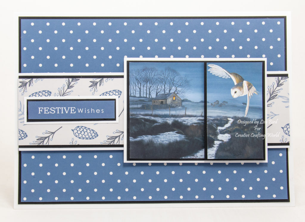 handmade card has been created using a cd-rom called Winter Day's from Creative Crafting World.