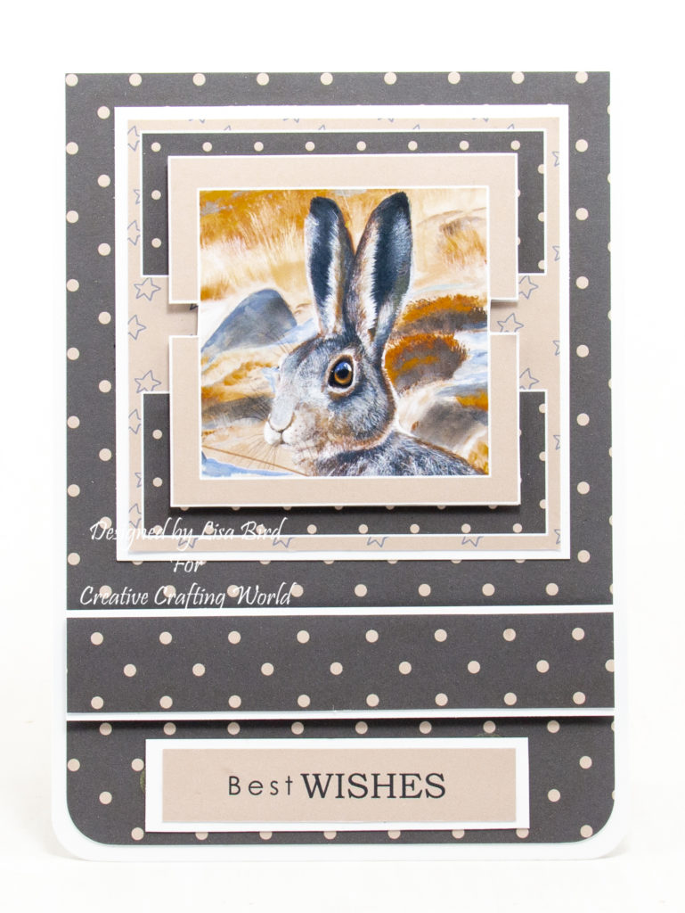 handmade card has been created using a cd-rom called Winter Day's