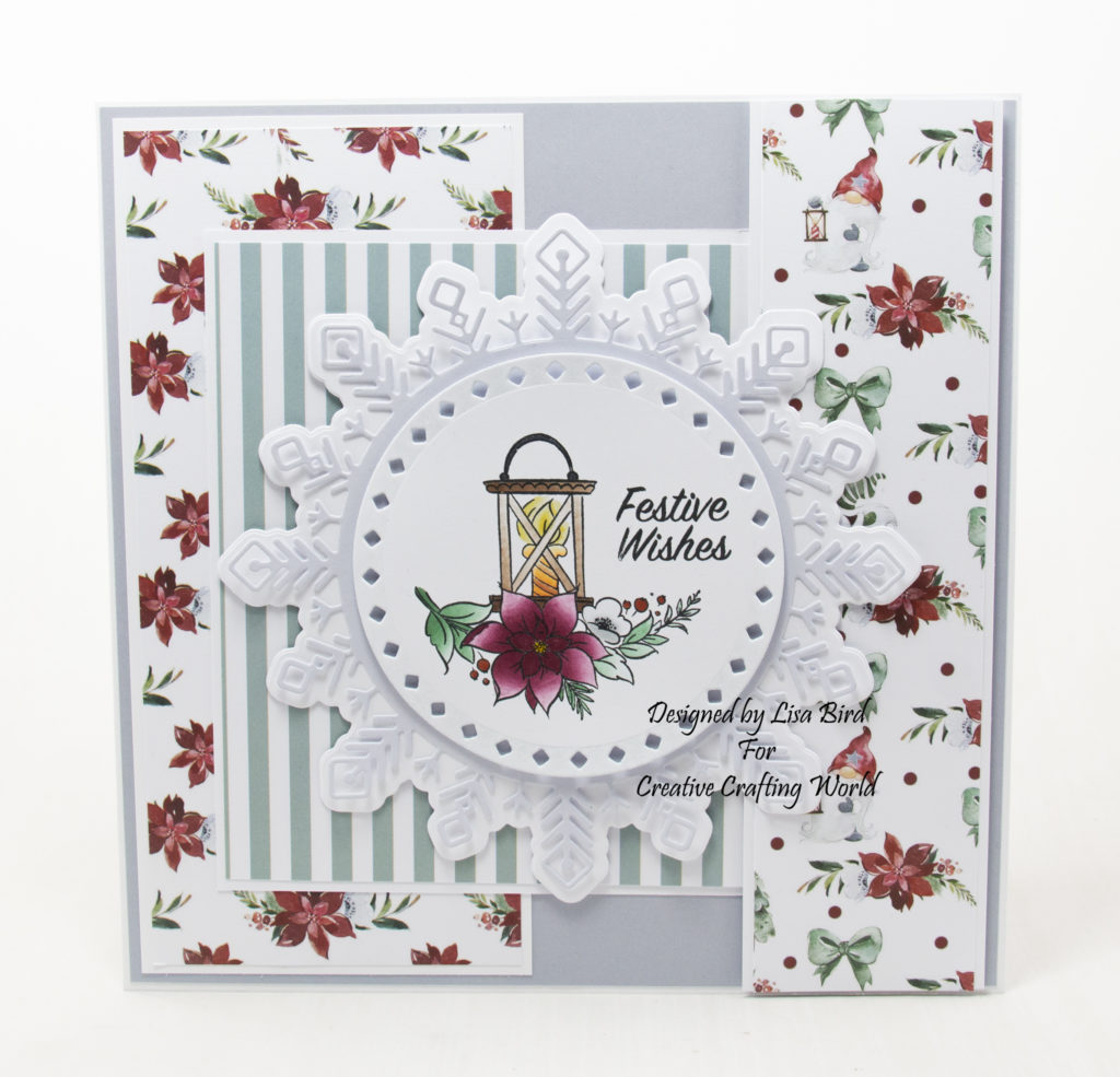 handmade card has been created using a Paper Boutique paper and stamp collection from Creative Crafting World called Winter Gnomes