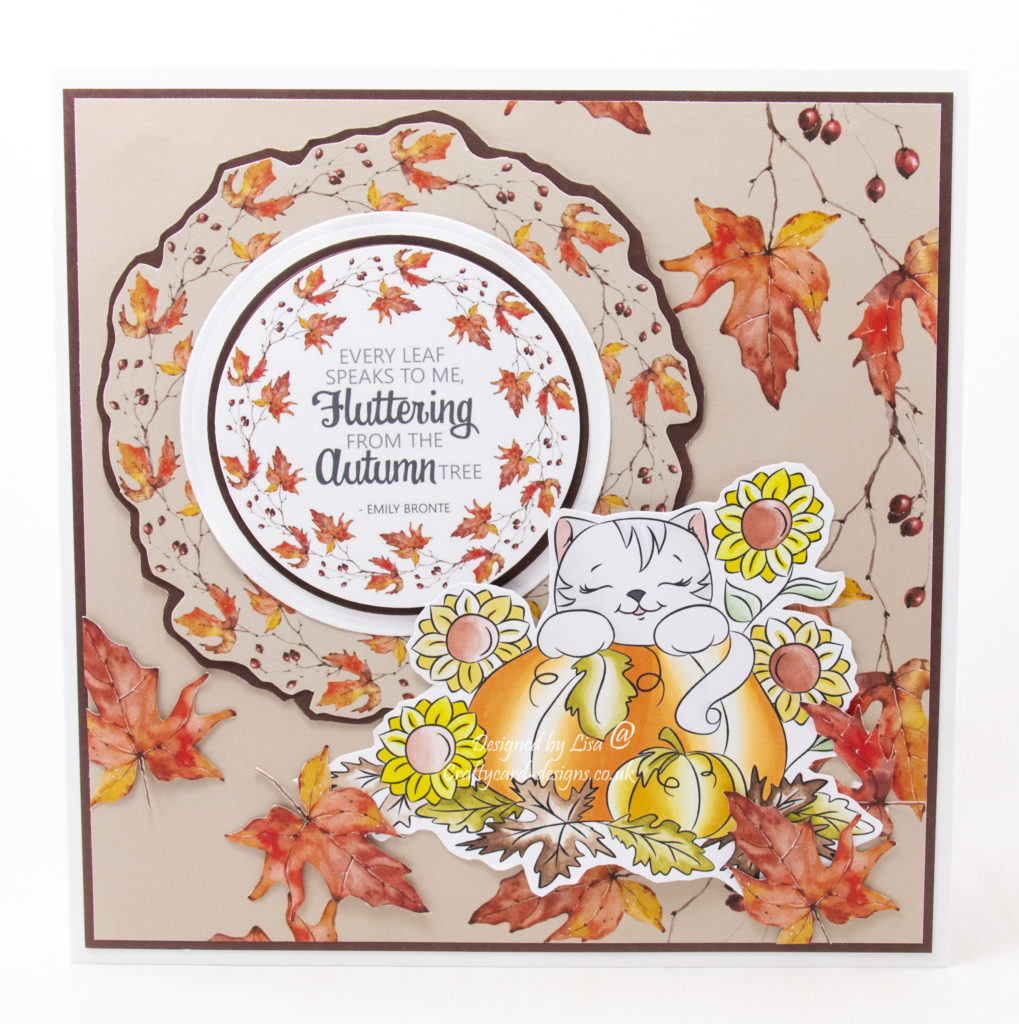 Handmade card using  a digi image from Digi Doodles Studios called Callie's Pumpkin Patch