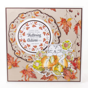 Handmade card using a digi image from Digi Doodles Studios called Callie's Pumpkin Patch