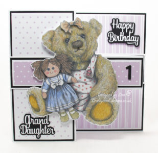 Handmade card using treasured teddies dvd-rom