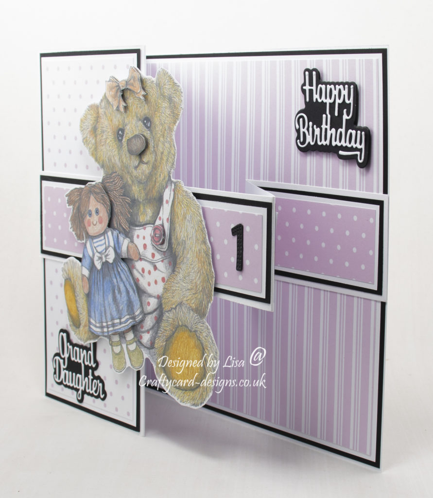 Handmade card using treasured teddies dvd-rom