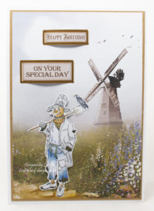 Handmade card using a digi image from The Amazing World Of Oz usb