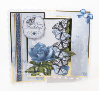 Today's card has been created using a free project of the week download from Debbi Moore Designs, called Butterfly Surprise.