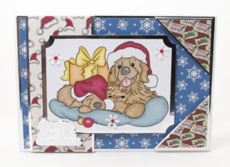 Handmade card using digi image from Digi Doodles Studios called Rusty And Ruffles