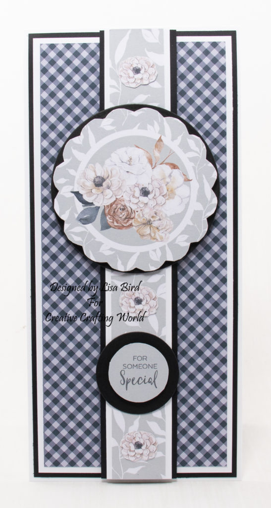 handmade card has been created using a Paper Boutique USB collection from Creative Crafting World called The Paper Pantry volume V.
