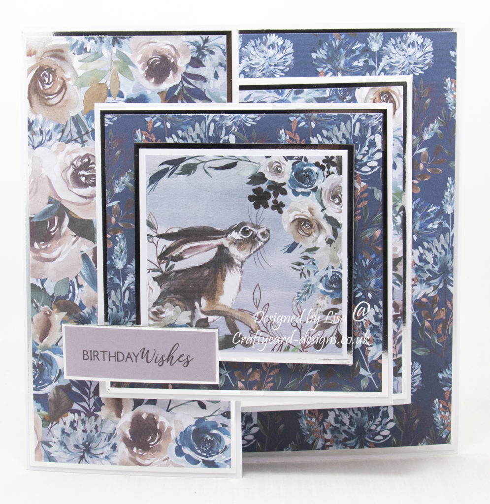Handmade card using Lakeside Blooms collection