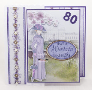 Handmade card using One Fine Lady II - Have A Wonderful Birthday