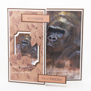 handmade card has been created using a new cd-rom called World Wildlife Studies from Creative Crafting World.
