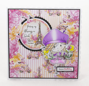 Handmade card using digital images called Winnie Sunshine Delights