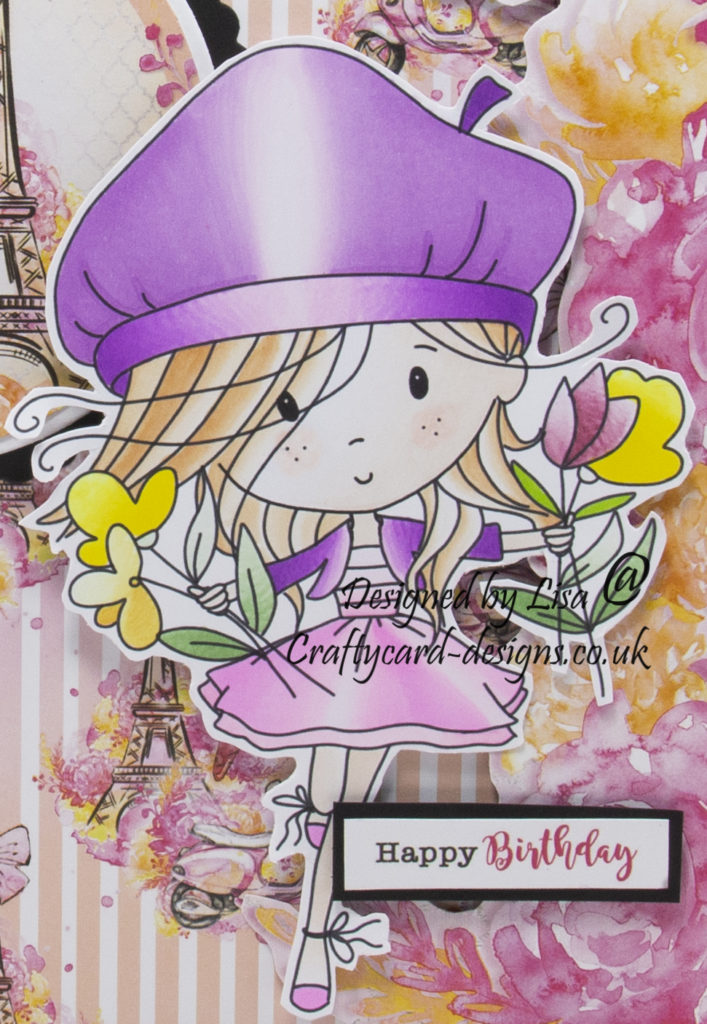Handmade card using digital images called Winnie Sunshine Delights