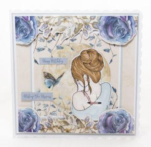 Handmade card using a digital image called Serenity.