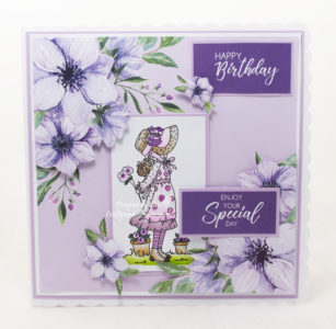 Today's handmade card has been created for the new challenge at Aud Sentiments challenge blog #275.
