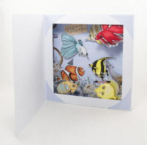 Handmade card using a digital image called Tropical Fish.