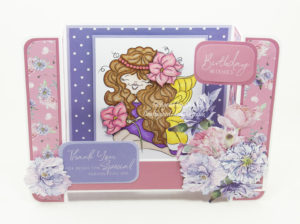Handmade card using digital image from Digi Doodles Studios called Tiana Fairy.