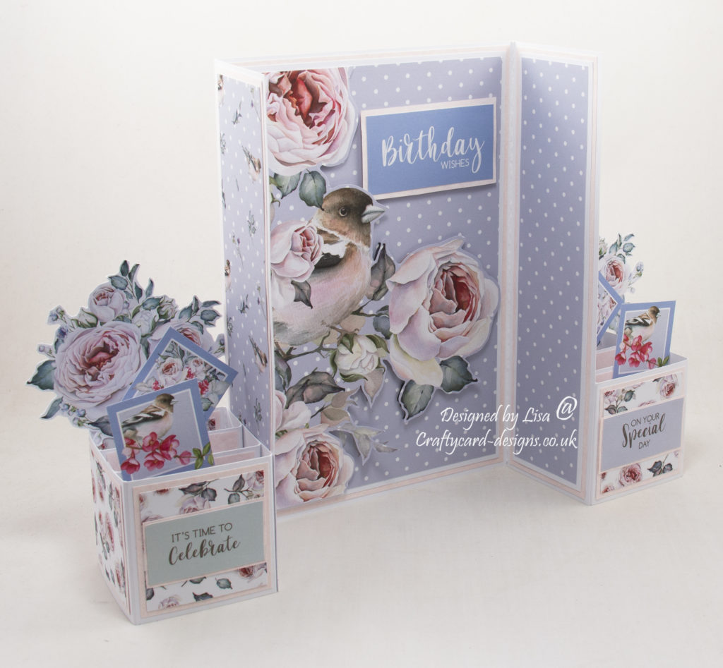 Handmade card using Morning Whispers paper collection