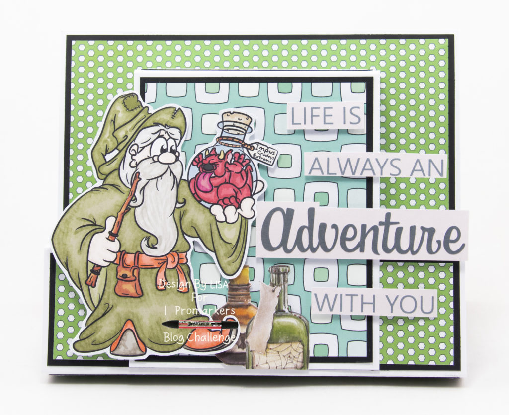 Handmade card using digital images from Dr. Digi's House Of Stamps